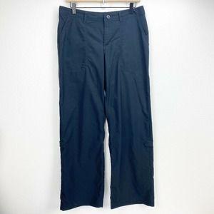 Patagonia Black Straight Leg Nylon Roll Tab Pants